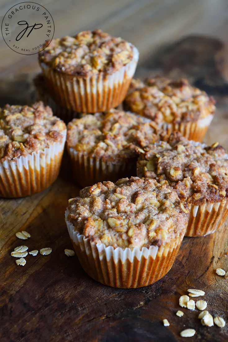 Oat Flour Muffins With Streusel Topping