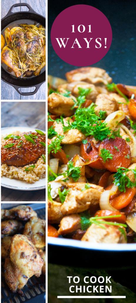 101 Ways To Cook Chicken - Collage graphic.