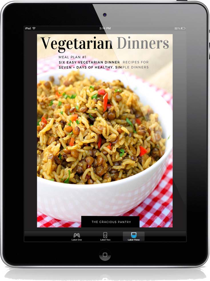 Vegetarian Dinners Meal Plan #1