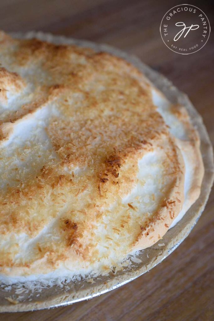 A side angle on a whole, Coconut Meringue Pie.